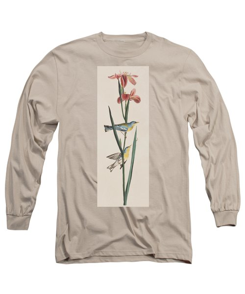 Blue Yellow-backed Warbler Long Sleeve T-Shirt by John James Audubon