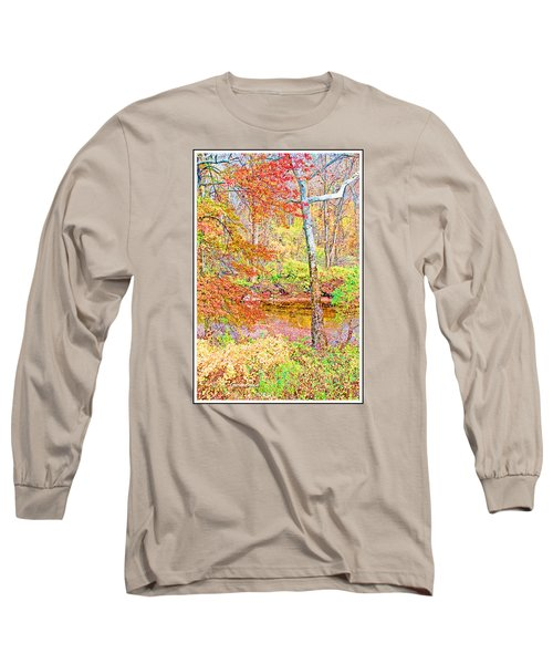 Long Sleeve T-Shirt featuring the photograph  Woods In Autumn Montgomery Cty Pennsylvania by A Gurmankin