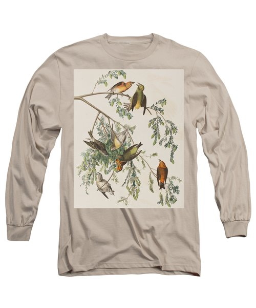 American Crossbill Long Sleeve T-Shirt by John James Audubon