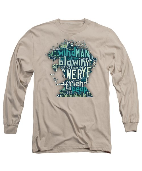 Bob Dylan Blowin In The Wind Long Sleeve T-Shirt by Marvin Blaine