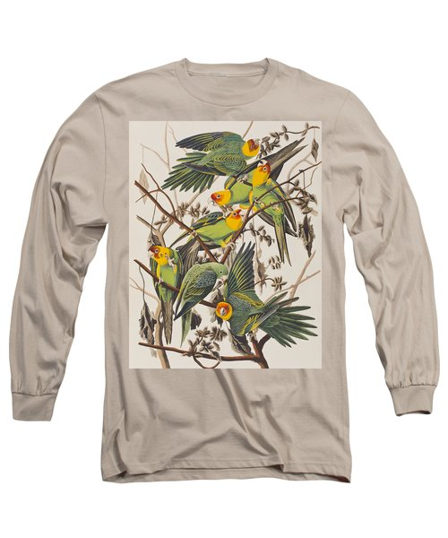 Carolina Parrot Long Sleeve T-Shirt by John James Audubon