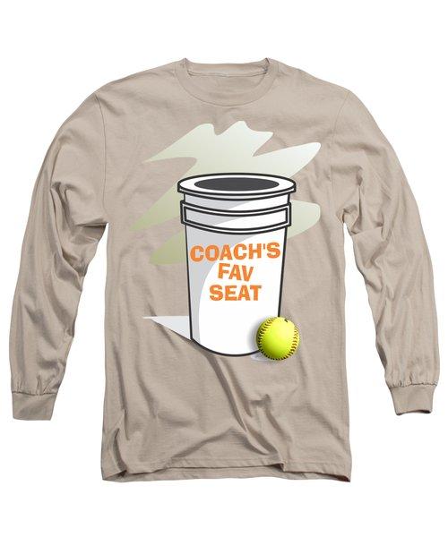Coach's Favorite Seat Long Sleeve T-Shirt by Jerry Watkins