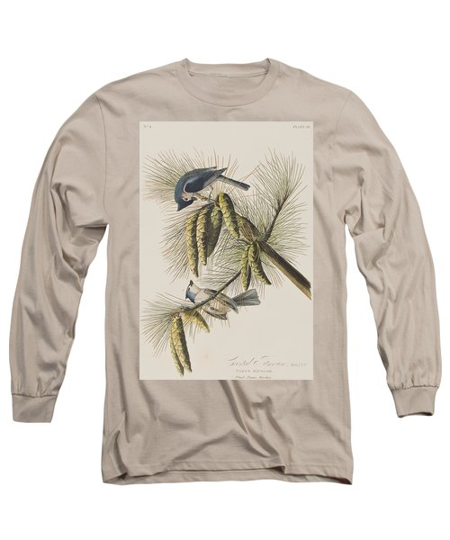 Crested Titmouse Long Sleeve T-Shirt by John James Audubon