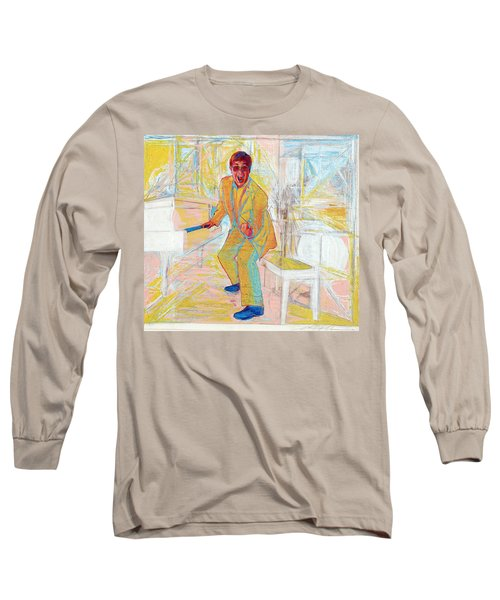 Elton John Long Sleeve T-Shirt by Martin Cohen