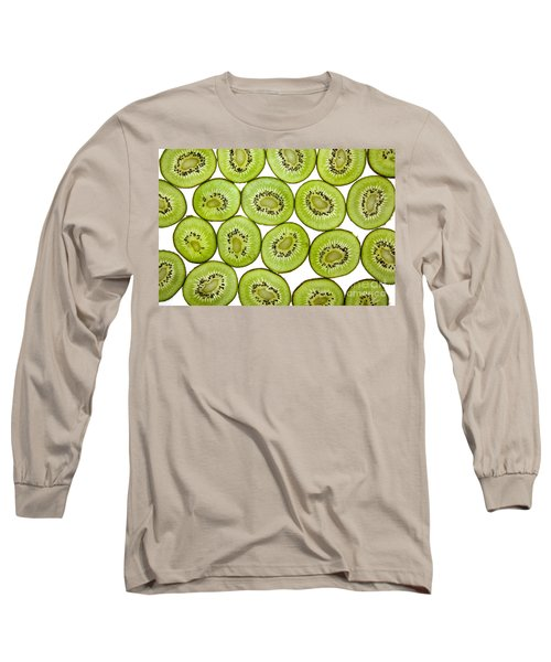Kiwifruit Long Sleeve T-Shirt by Nailia Schwarz