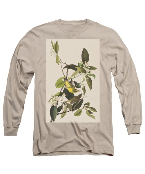 Palm Warbler Long Sleeve T-Shirt by John James Audubon