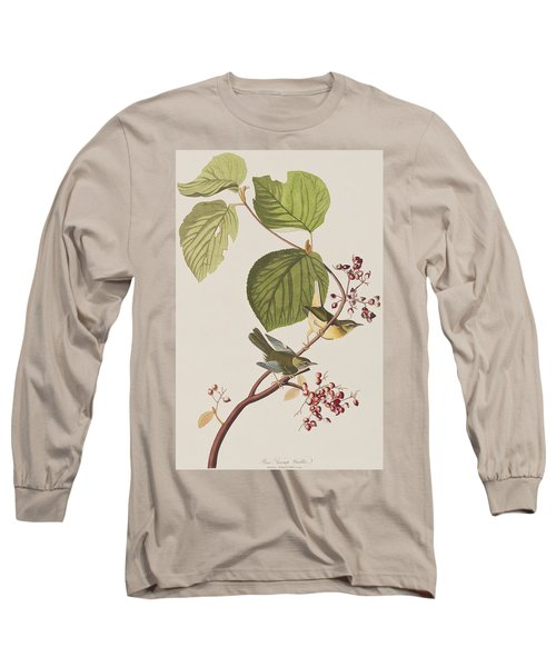 Pine Swamp Warbler Long Sleeve T-Shirt by John James Audubon