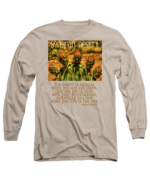 Prickly Pear Cactus Long Sleeve T-Shirt by Roger Passman