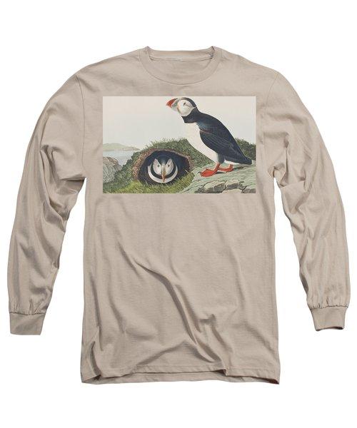 Puffin Long Sleeve T-Shirt by John James Audubon
