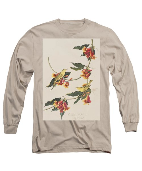Rathbone Warbler Long Sleeve T-Shirt by John James Audubon