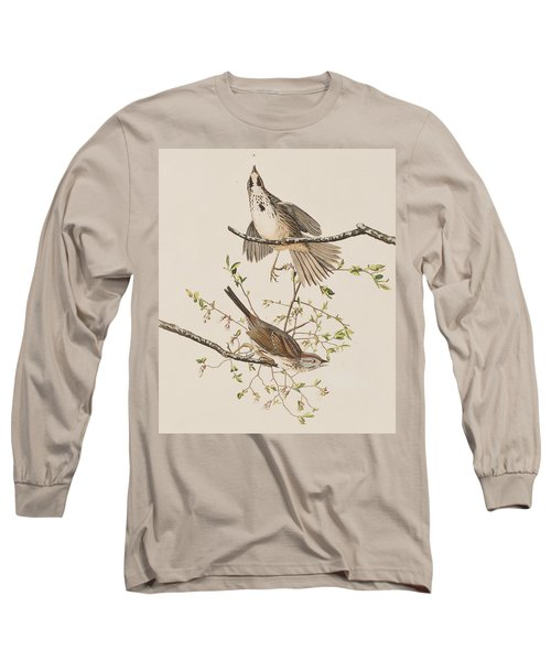Song Sparrow Long Sleeve T-Shirt by John James Audubon