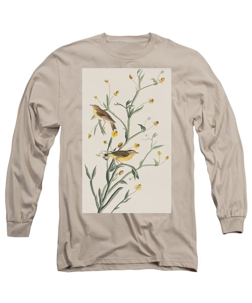 Yellow Red-poll Warbler Long Sleeve T-Shirt by John James Audubon