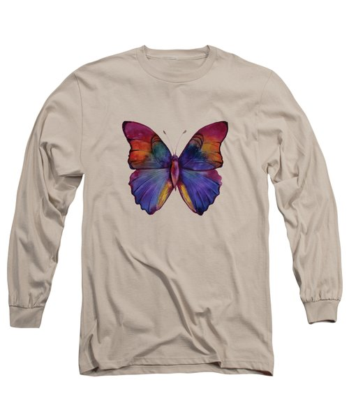 13 Narcissus Butterfly Long Sleeve T-Shirt by Amy Kirkpatrick