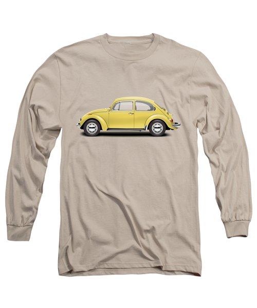 1972 Volkswagen Beetle - Saturn Yellow Long Sleeve T-Shirt by Ed Jackson