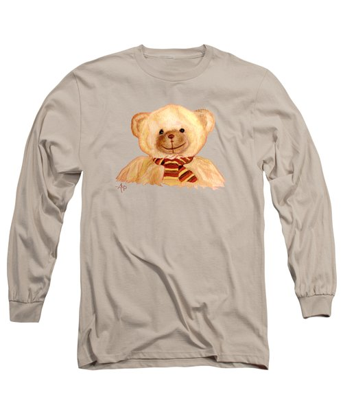 Cuddly Bear Long Sleeve T-Shirt by Angeles M Pomata