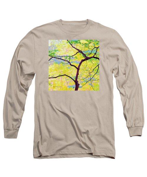 Long Sleeve T-Shirt featuring the digital art Dogwood Tree In Spring by A Gurmankin