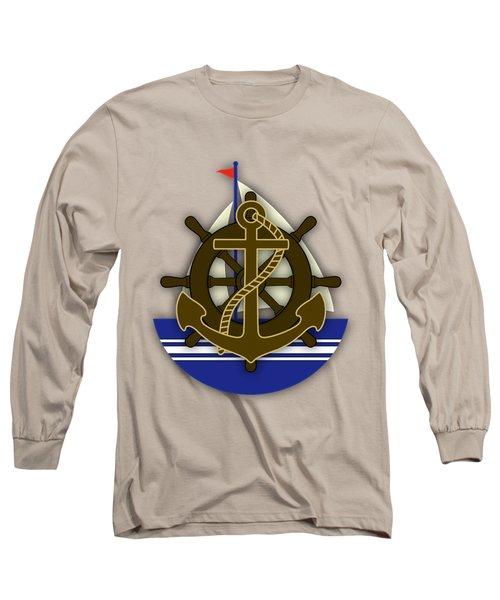 Nautical Collection Long Sleeve T-Shirt by Marvin Blaine