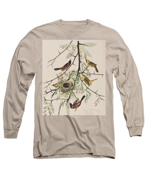 Orchard Oriole Long Sleeve T-Shirt by John James Audubon