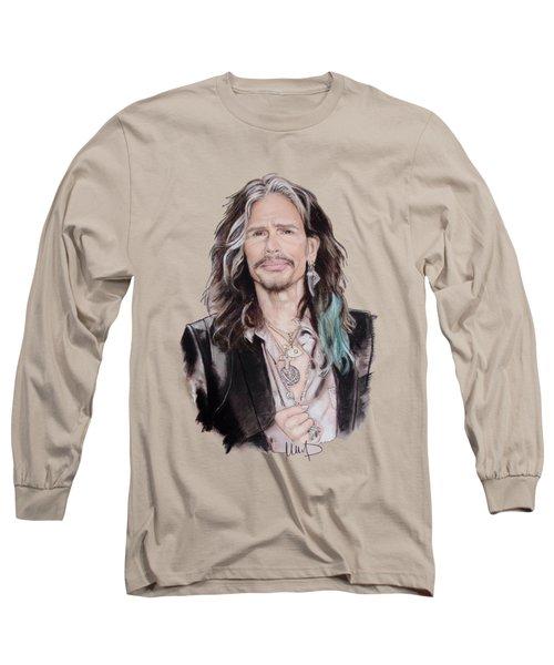 Steven Tyler  Long Sleeve T-Shirt by Melanie D