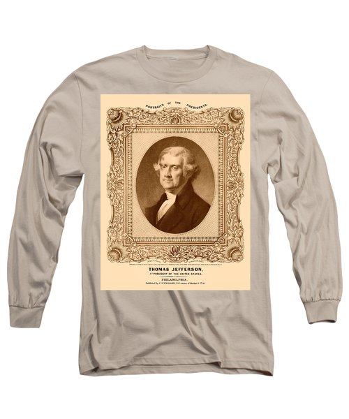 Thomas Jefferson Long Sleeve T-Shirt by War Is Hell Store