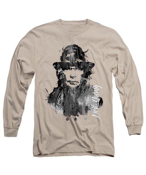 Neil Young Collection Long Sleeve T-Shirt by Marvin Blaine