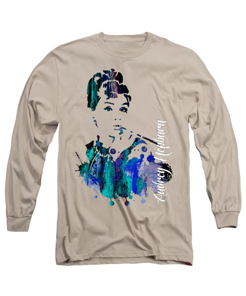 Audrey Hepburn Collection Long Sleeve T-Shirt by Marvin Blaine