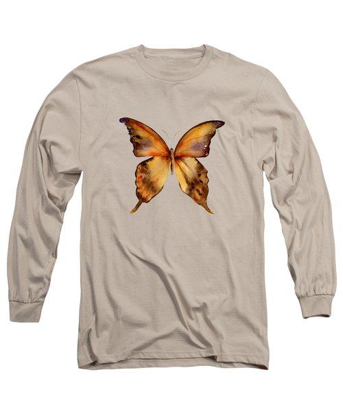 7 Yellow Gorgon Butterfly Long Sleeve T-Shirt by Amy Kirkpatrick