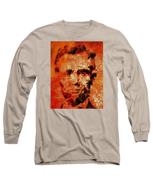 Abraham Lincoln 4d Long Sleeve T-Shirt by Brian Reaves