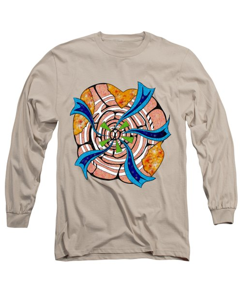 Abstract Digital Art - Ciretta V3 Long Sleeve T-Shirt by Cersatti