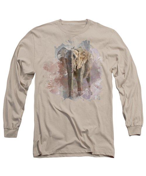 African Elephant - Transparent Long Sleeve T-Shirt by Nikolyn McDonald