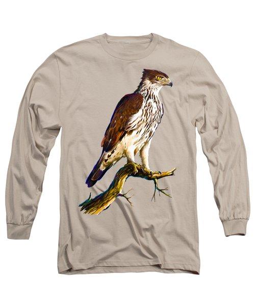 African Hawk Eagle Long Sleeve T-Shirt by Anthony Mwangi