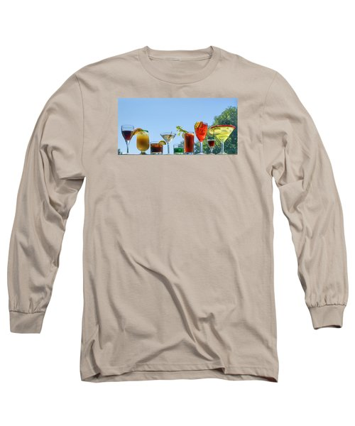 Alcoholic Beverages - Outdoor Bar Long Sleeve T-Shirt by Nikolyn McDonald