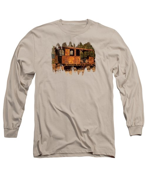 All Aboard The Excursion Car Long Sleeve T-Shirt by Thom Zehrfeld