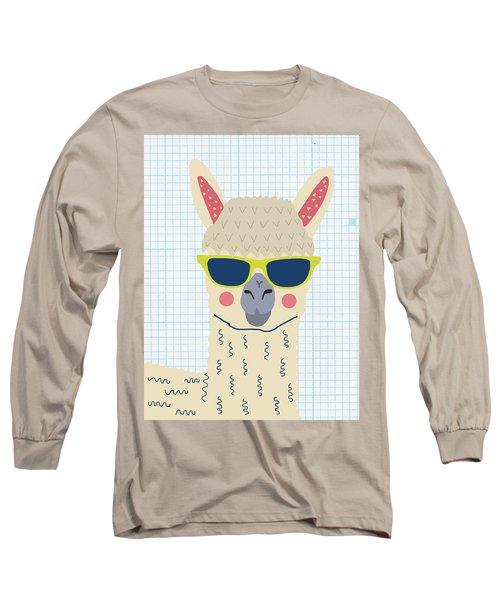 Alpaca Long Sleeve T-Shirt by Nicole Wilson