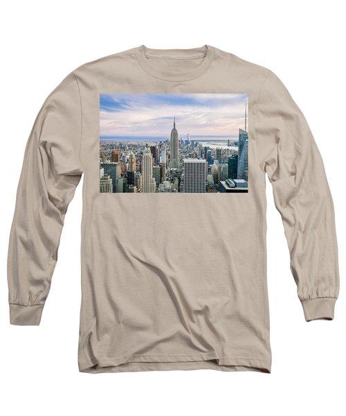 Amazing Manhattan Long Sleeve T-Shirt by Az Jackson