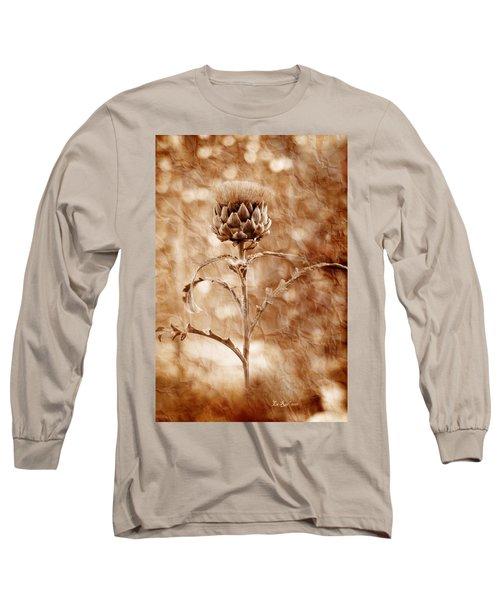 Artichoke Bloom Long Sleeve T-Shirt by La Rae  Roberts