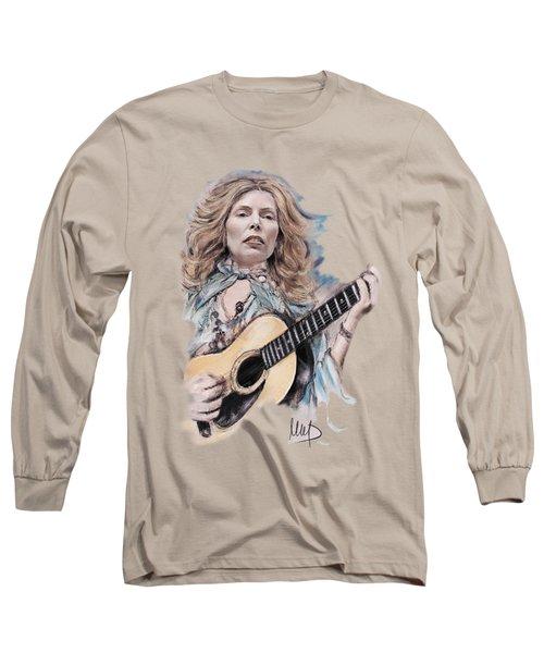 Joni Mitchell Long Sleeve T-Shirt by Melanie D