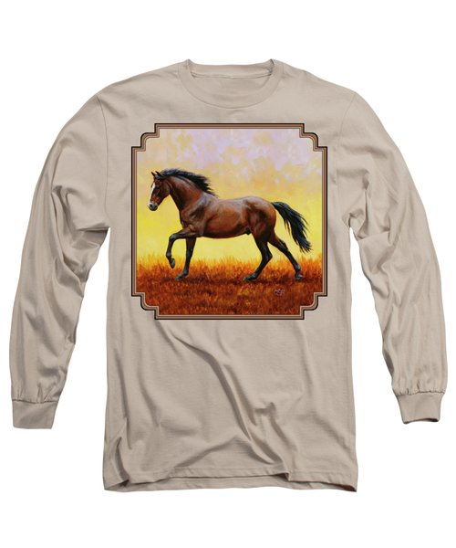 Midnight Sun Long Sleeve T-Shirt by Crista Forest