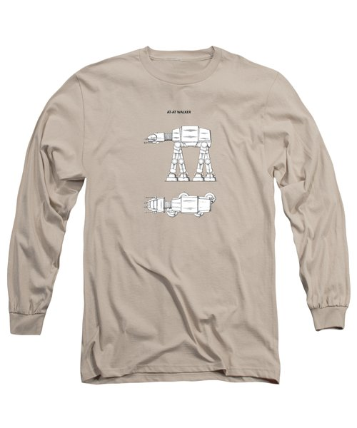 Star Wars - At-at Patent Long Sleeve T-Shirt by Mark Rogan