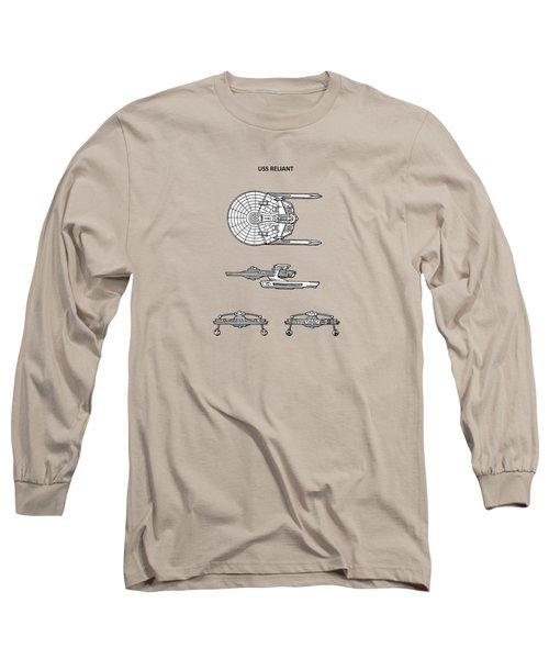 Star Trek - Uss Reliant Patent Long Sleeve T-Shirt by Mark Rogan