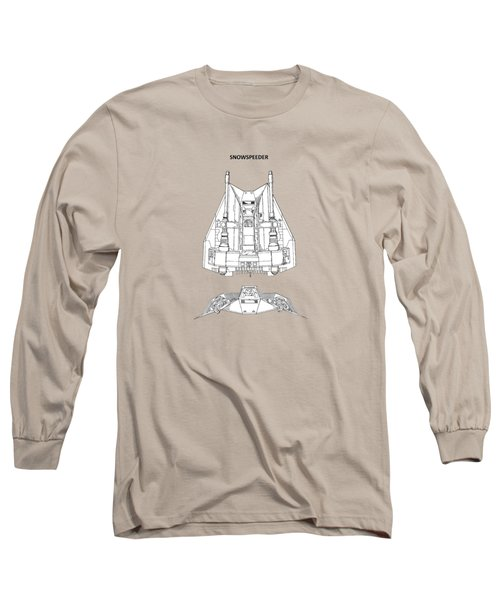 Star Wars - Snowspeeder Patent Long Sleeve T-Shirt by Mark Rogan
