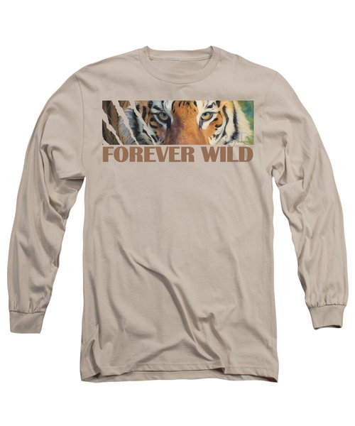 Forever Wild Long Sleeve T-Shirt by Lucie Bilodeau