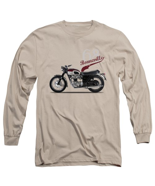 Triumph Bonneville T120 1968 Long Sleeve T-Shirt by Mark Rogan