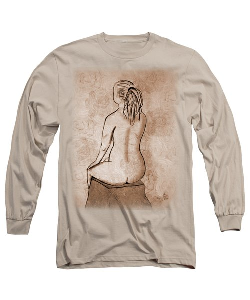 Life Drawing 1 Long Sleeve T-Shirt by Linda Lees