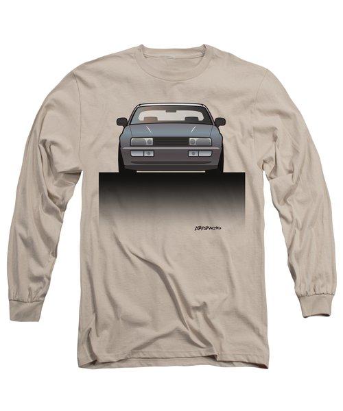 Modern Euro Icons Series Vw Corrado Vr6 Long Sleeve T-Shirt by Monkey Crisis On Mars