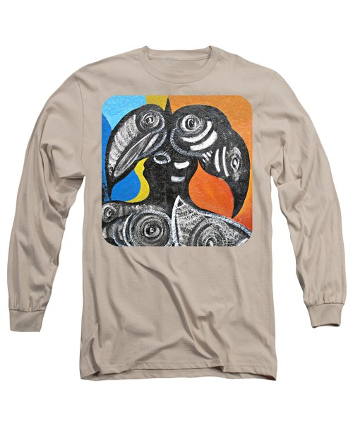 Two Toucans Long Sleeve T-Shirt by Ethna Gillespie