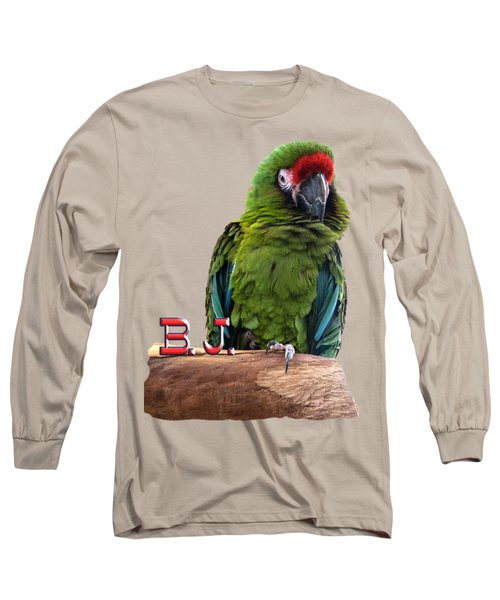 B. J., The Military Macaw Long Sleeve T-Shirt by Zazu's House Parrot Sanctuary