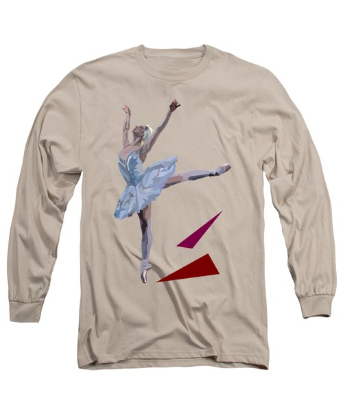 Ballerina Dancing Swan Lake Long Sleeve T-Shirt by James Bryson