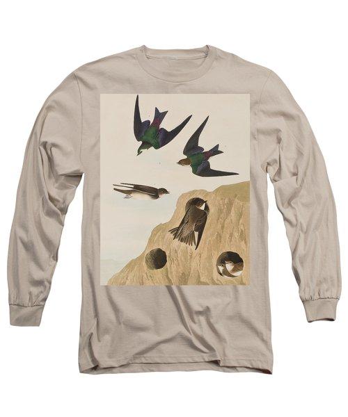 Bank Swallows Long Sleeve T-Shirt by John James Audubon