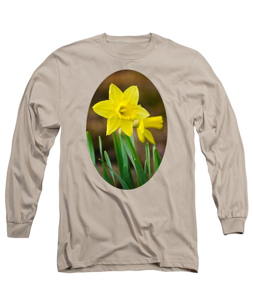 Beautiful Daffodil Flower Long Sleeve T-Shirt by Christina Rollo